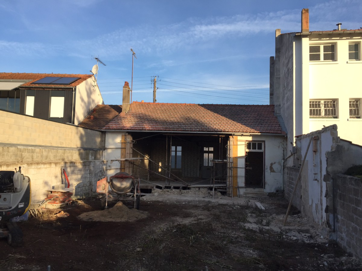 Maison bo chantier architecte la rochelle agence for Chantier architecte